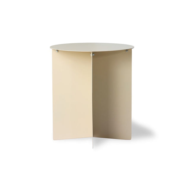 metal side table round cream