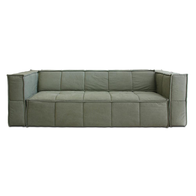 Cube Couch 4 Seats Army Green