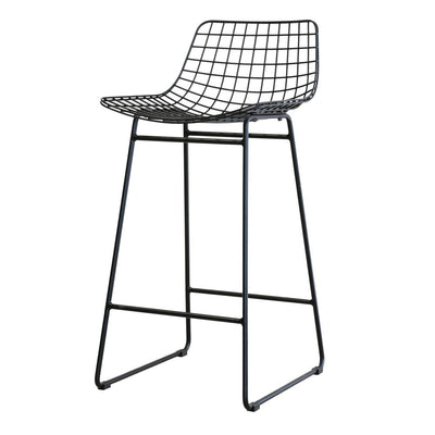 Wire Bar Stool Black (comfort kit sold seperately)