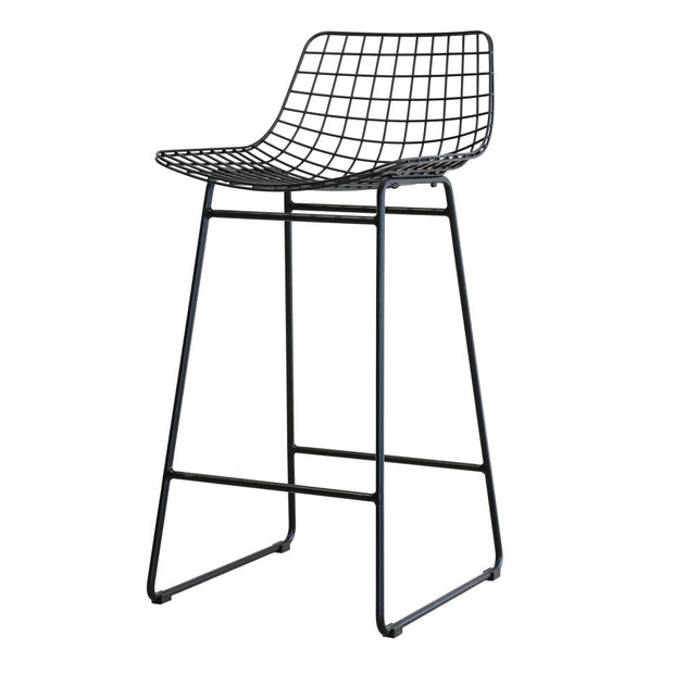 HK Living | Wire Bar Stool Black (comfort kit sold seperately) | House of Orange Melbourne