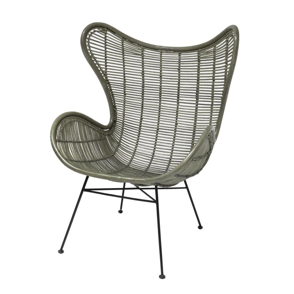 Perfect Rattan Egg Chair Olive Green