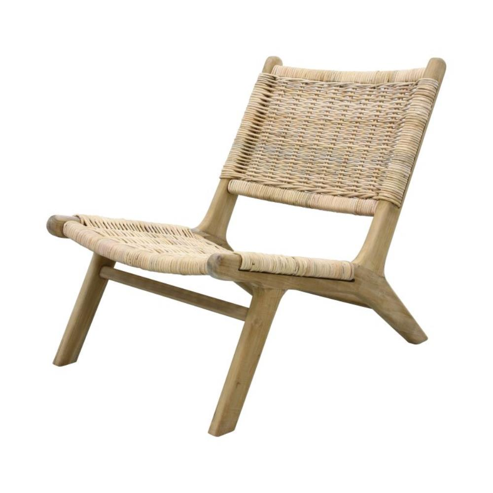 Beau Rattan Lounge Chair