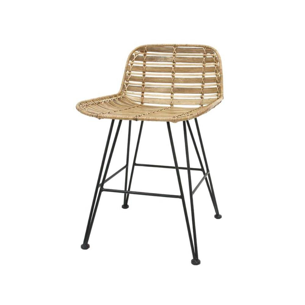 Rattan Low-Back Dining Chair Natural Hokaido