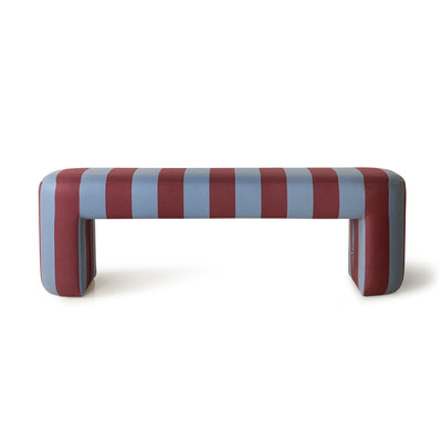 HK Living | Lobby Bench | Stripe Blue & Purple | HK Living | House of Orange Melbourne