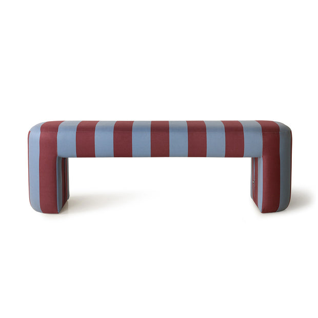 HK Living | Lobby Bench Striped Blue/Purple | House of Orange Melbourne