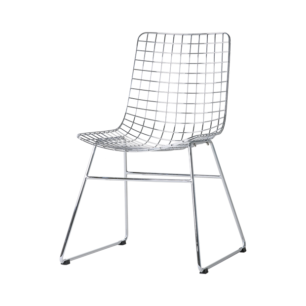 metal wire chair chrome