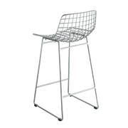 metal wire bar stool chrome