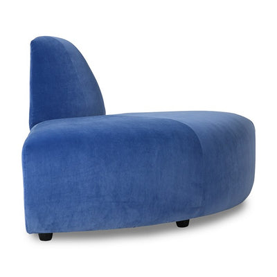 jax couch: element angle, royal velvet, blue