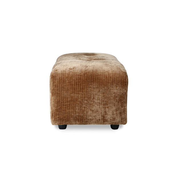 vint couch: element hocker small, corduroy velvet, aged gold