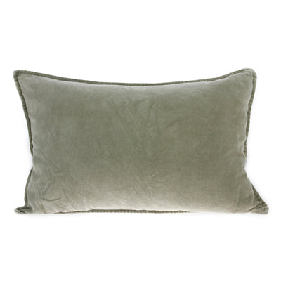 velvet cushion green (40x60)
