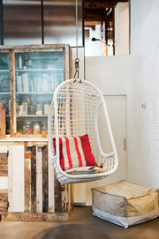 HK Living | Hanging Rattan Chair White | House of Orange Melbourne