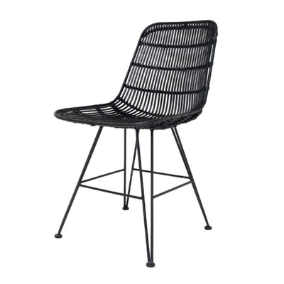 HK Living | Rattan Dining Chair Black | House of Orange Melbourne