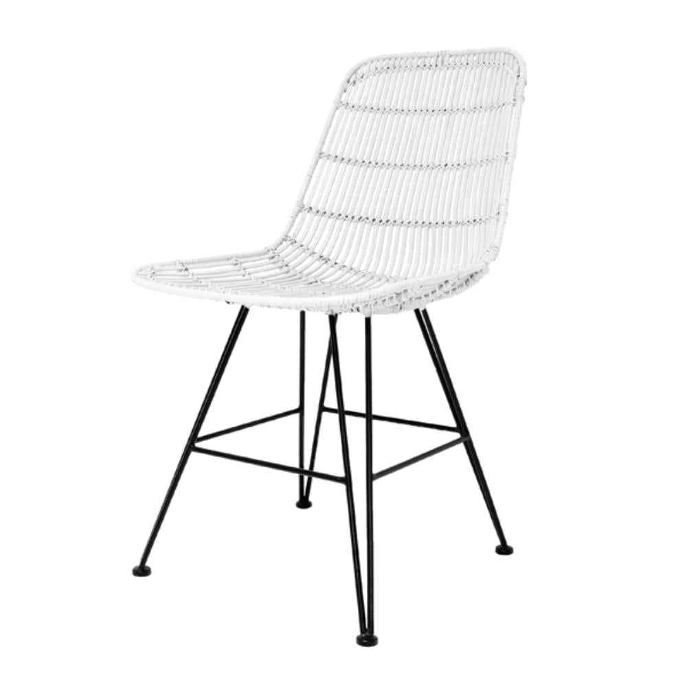 Rattan Dining Chair White