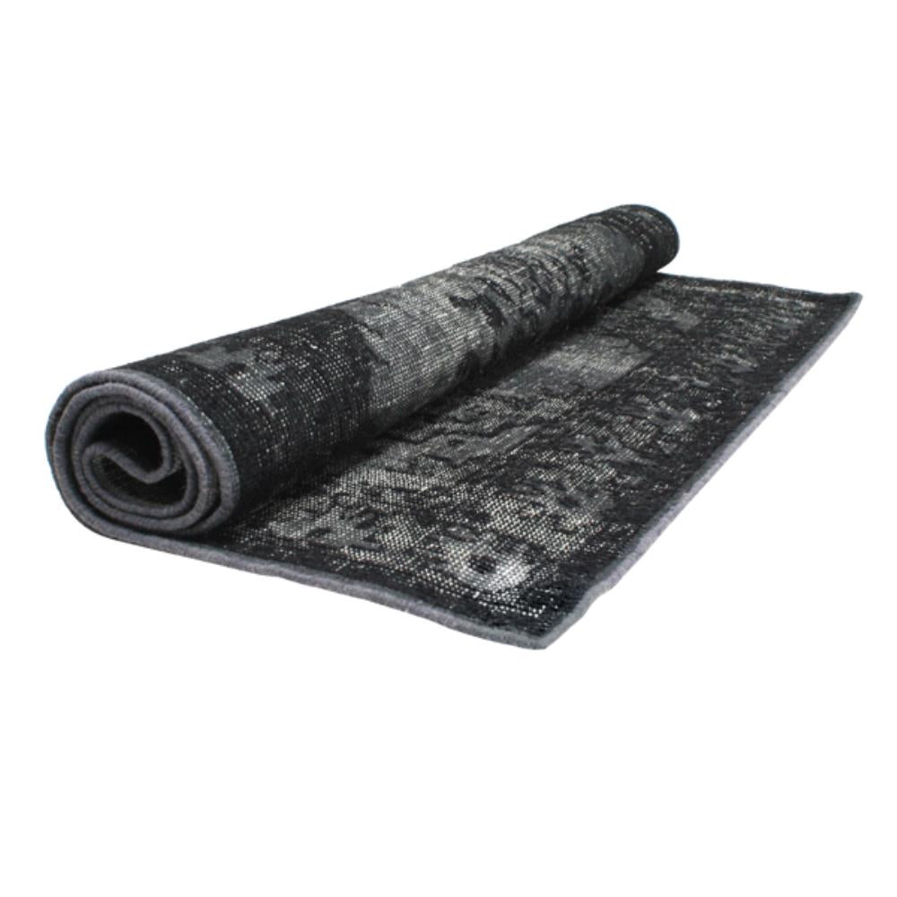 HK Living | Extra Overdyed rug in Black (180x120) | House of Orange Melbourne