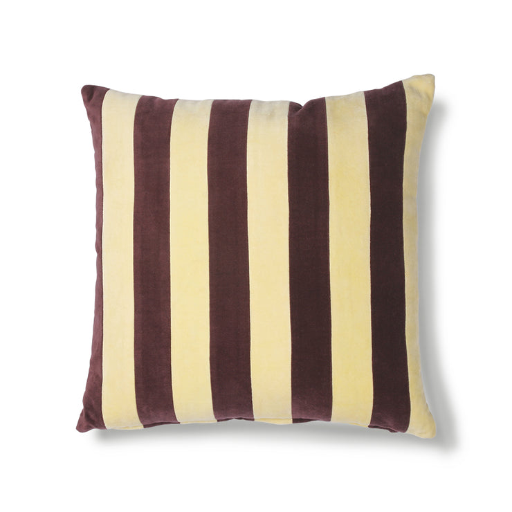 HK Living | Cushion | Striped Velvet Yellow-Purple (50x50) | HK Living | House of Orange Melbourne