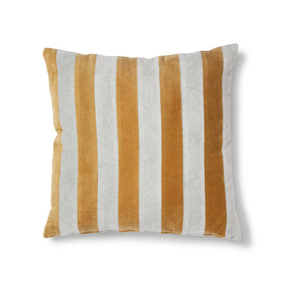 HK Living | Cushion | Striped Velvet Grey-Gold (50x50) | HK Living | House of Orange Melbourne