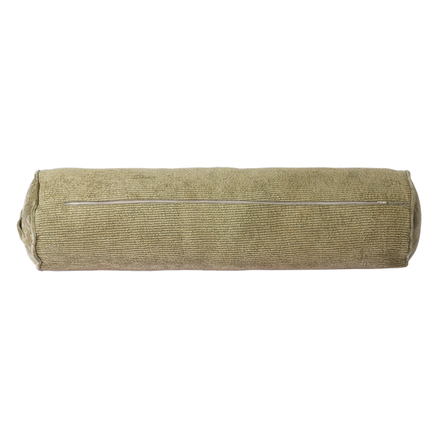 corduroy bolster cushion army green (20x70)