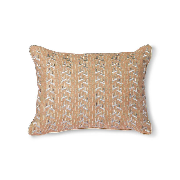 nude cushion with silver patches (30x40)