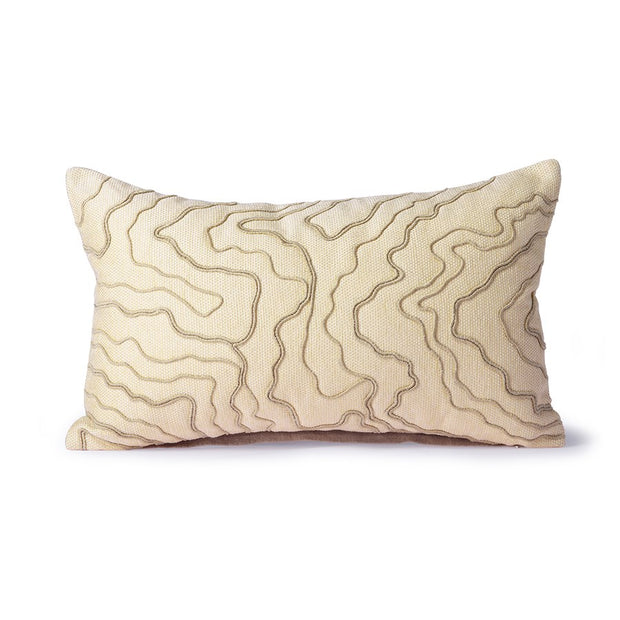 cream cushion with stitched lines (30x50)