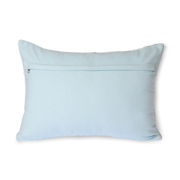 graphic embroidered cushion ice blue (35x50)