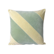 striped velvet cushion mint/green (45x45)
