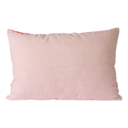 striped velvet cushion red/pink (40x60)