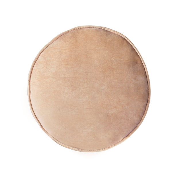 velvet seat cushion round peach (ø60)