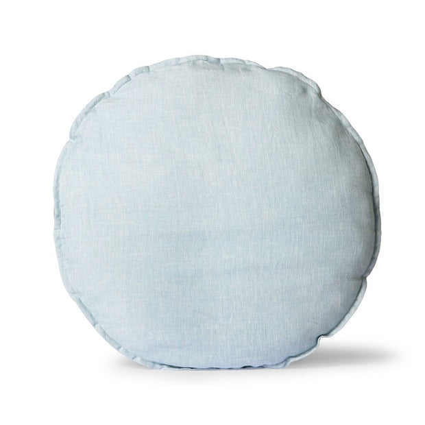 linen seat cushion round ice blue (Ø60)