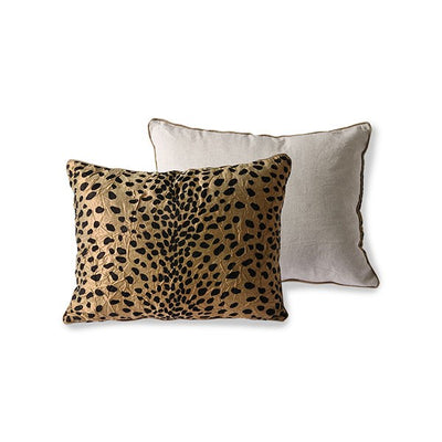 DORIS for HK: flock print cushion panther (30x40)