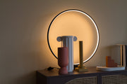 Luminous Circle Table Lamp Black