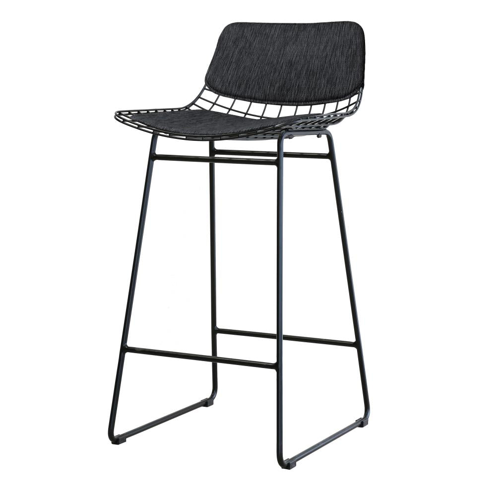 Wire Bar Stool Comfort Kit Charcoal