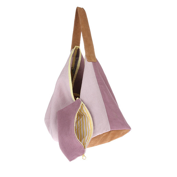 House of Orange | Linen/Suede Bag Lilac | House of Orange Melbourne