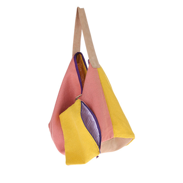 HK Old | Linen Suede Bag Yellow | House of Orange Melbourne