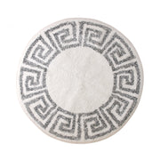 HK Living | Bath Mat | Greek Key Round 80cm White & Black | HK Living | House of Orange Melbourne