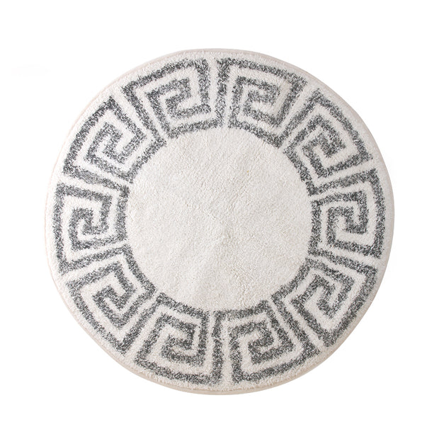 HK Living | Bath Mat | Greek Key Round 80cm | HK Living | House of Orange Melbourne