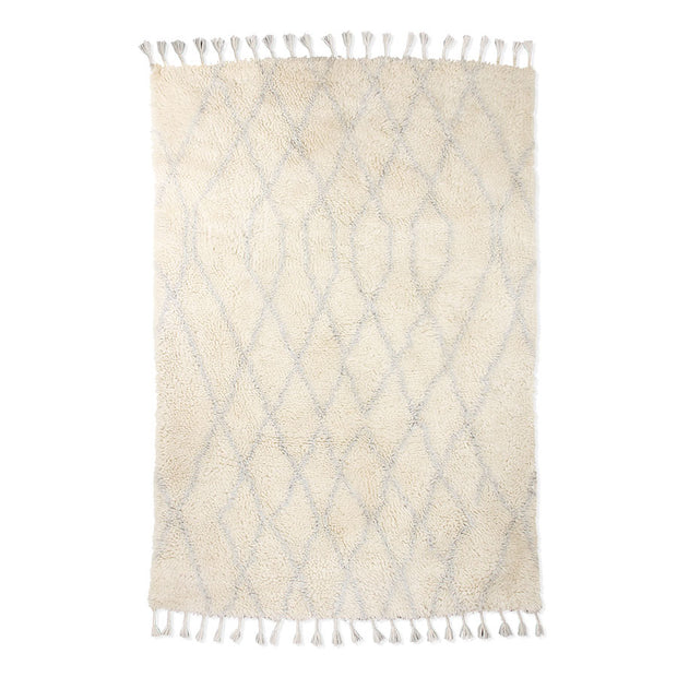 HK Living | Woollen Berber Rug Zigzag Light Blue (180x280) | House of Orange Melbourne