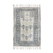 printed bathmat black/white overtufted (60x90)