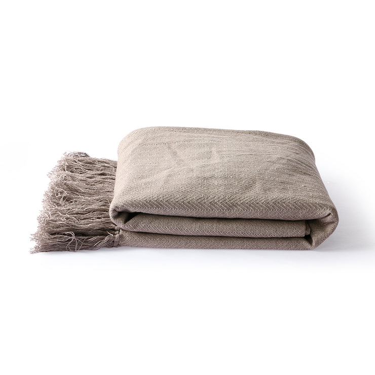 Throw | Cotton Zig-Zag Beige (130x170) | HK Living