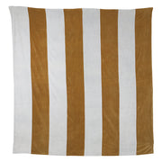 Striped Bedspread Velvet Grey/Gold