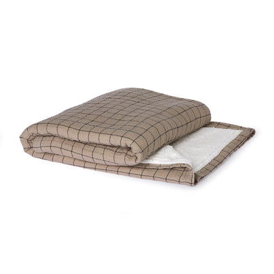 checkered sherpa throw (130x170)