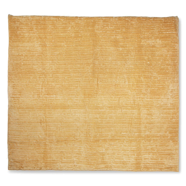 quilted cotton velvet bedspread soft yellow (240x260)