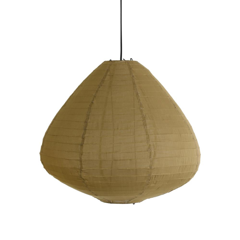 Fabric lantern 65cm Khaki brown