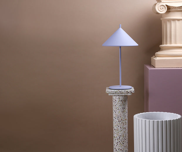Metal Triangle Table Lamp M Lilac
