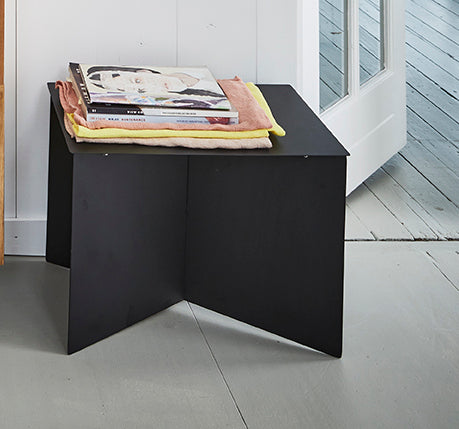 metal side table rectangular black