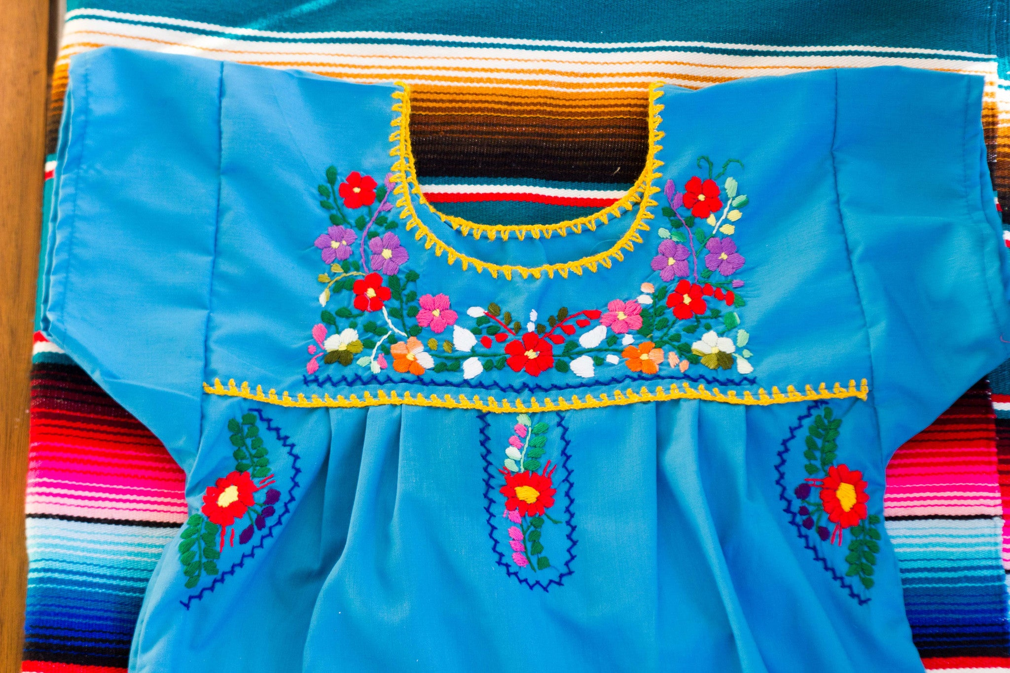 Girl's Blue Puebla Dress
