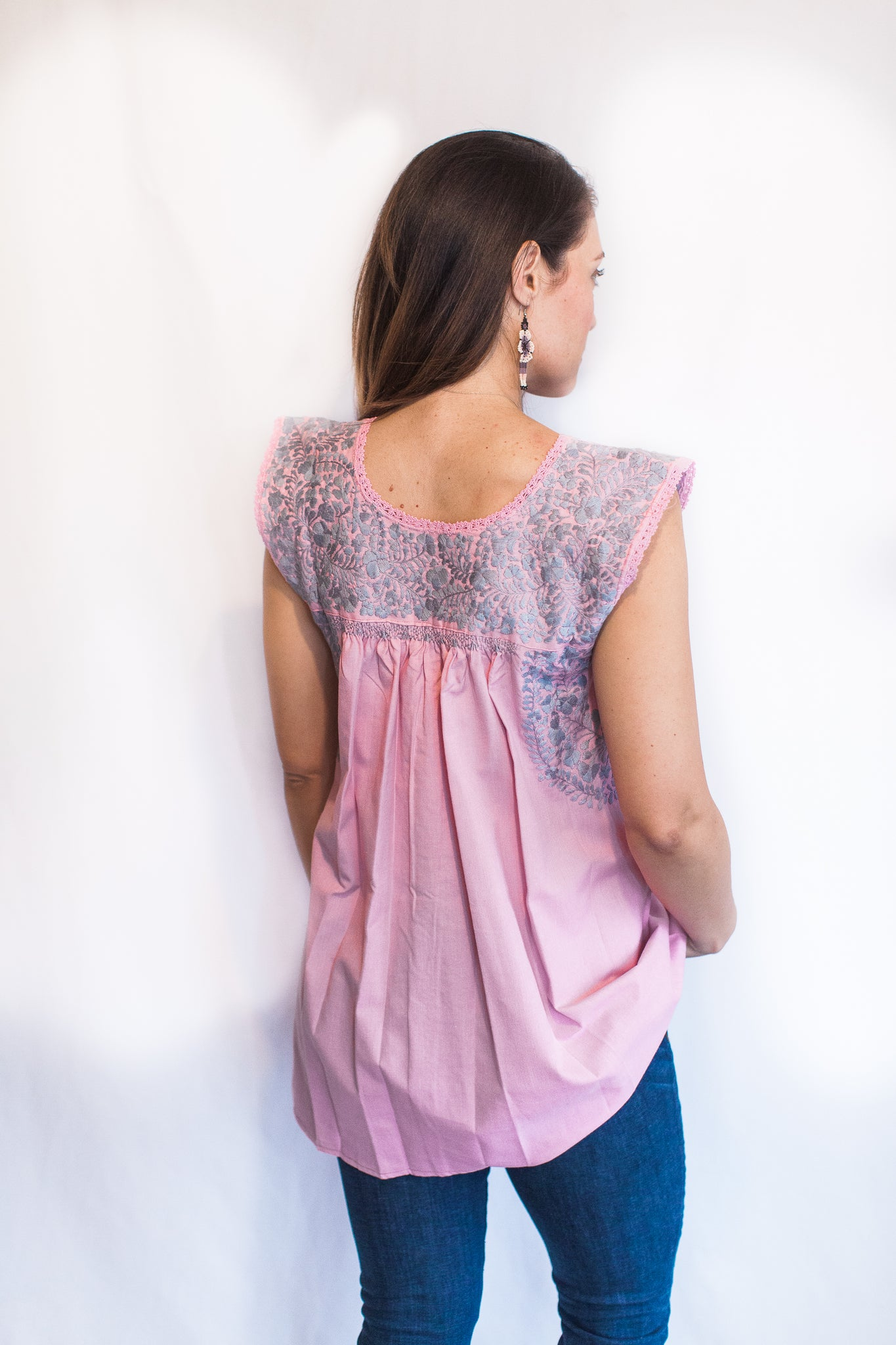 Pink with Gray Felicia Top- M/L