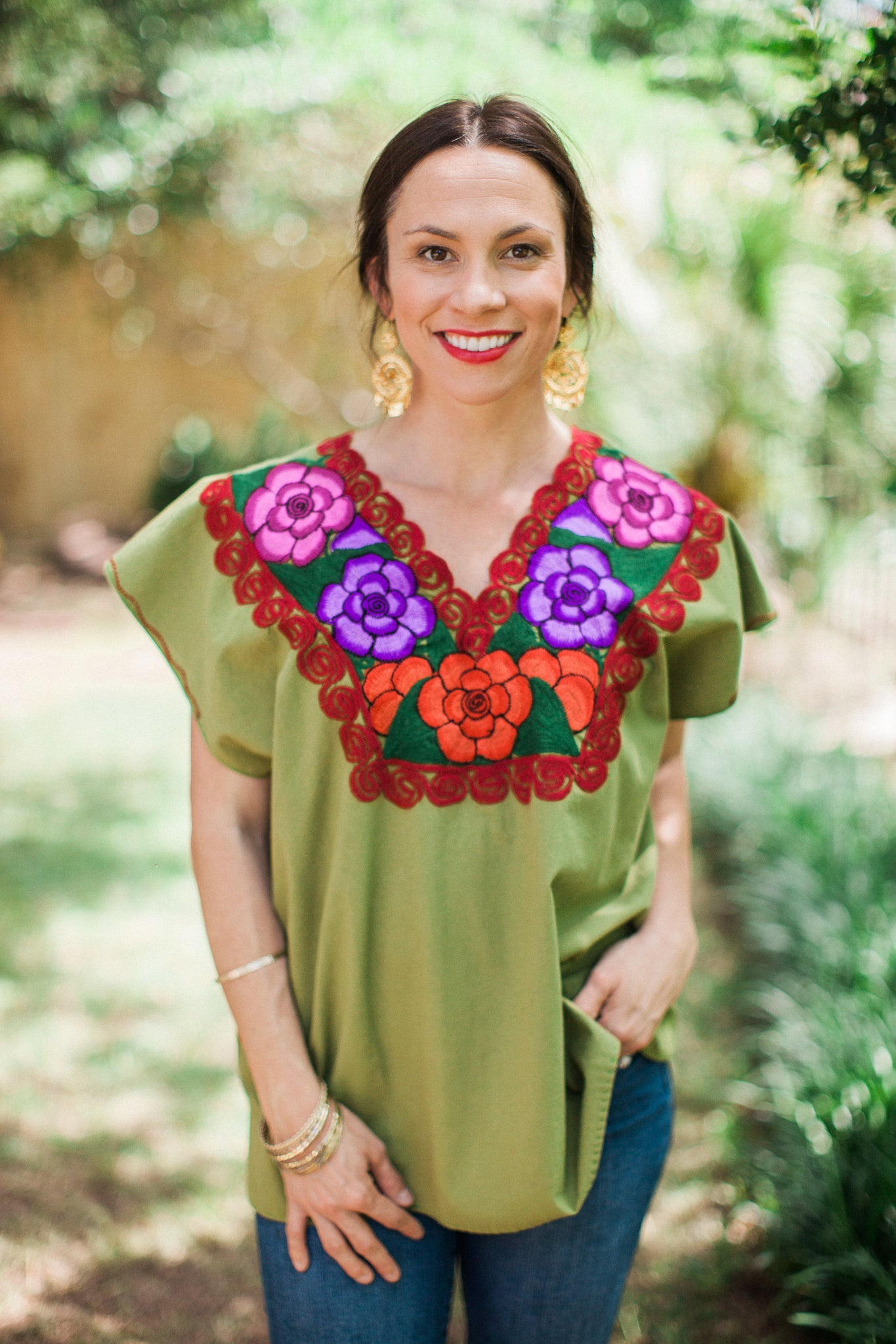 Green La bohemia Blouse
