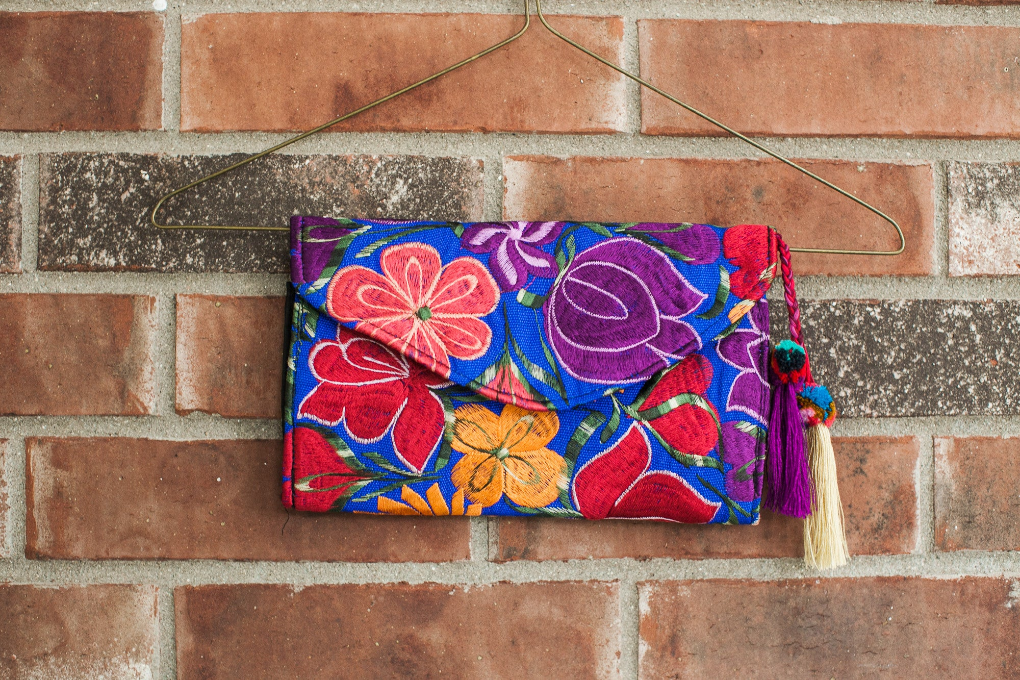 Blue Frida Clutch