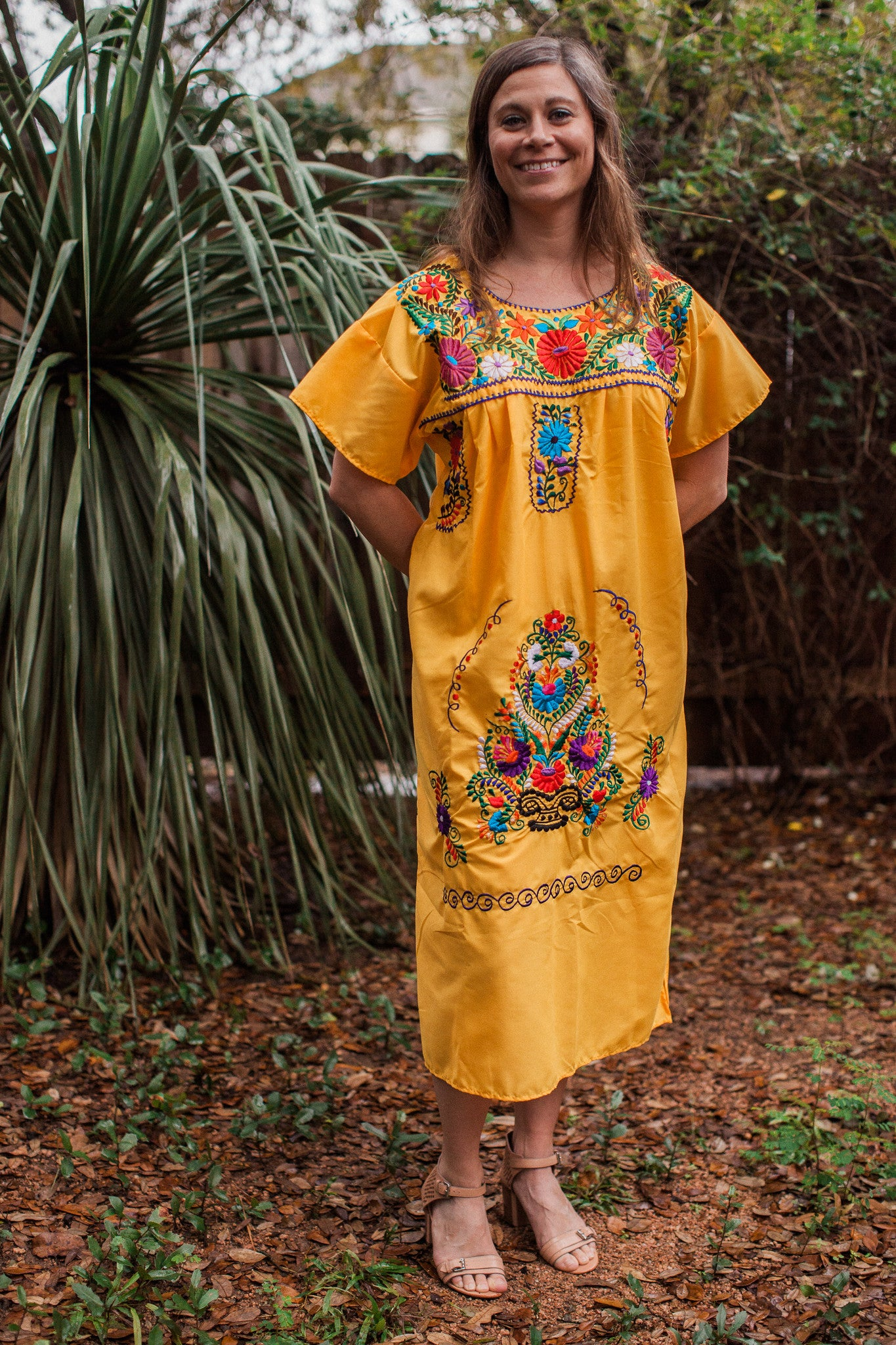 Yellow Puebla Dress