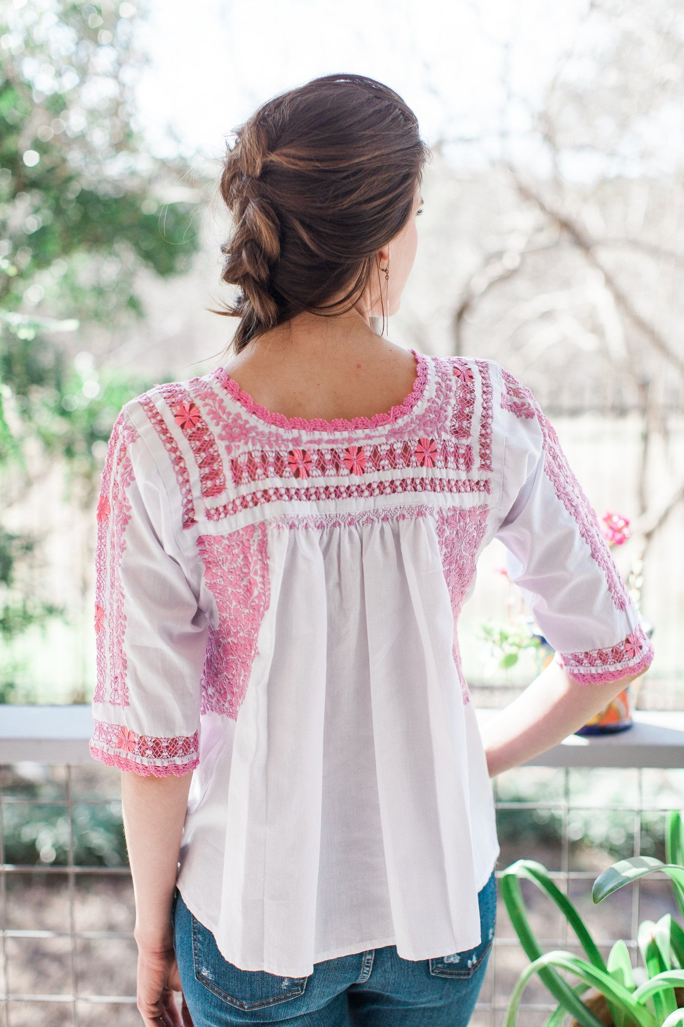 Pink and White San Antonino Blouse